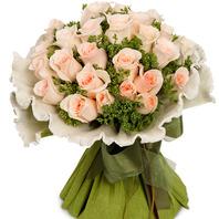 연분홍장미꽃다발