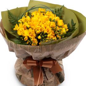 후리지아노란색꽃다발(봄상품)