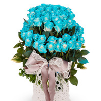 파란장미100송이2단바구니(예약상품)