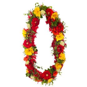 빨강 꽃 목걸이(예약상품)